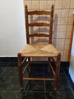 Solid wood wicker chair - 6 pcs
