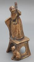 Bronze Art Nouveau figural luminaire
