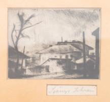 István Szőnyi (1894-1960): street detail.