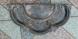 Gyönyörű antik kàlyha előtét szikra paràzs fogó hamuzó,Judaika,Dàvid csillag mester jegy!