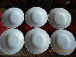 Zsolnay antique deep plate 6 pcs