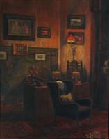 Novák erzsébet (1893-) room interior 60x50 room interior komáromi kacz apátfalvi