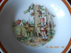Kahla red and wolf fairy tale pattern kid deep plate