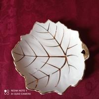 2 pcs leaf shaped porcelain bowl