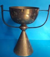 Mounted copper vase, flowerpot