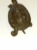 Okimono bronz teknős Japán Meiji időszak
