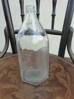 Régi gyógyszeres üveg, külsőleg felírattal