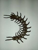 Jizai okimono bronze centipede, Japanese, Meiji period