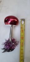 Karácsonyfadisz üveg, csipeszes gomba