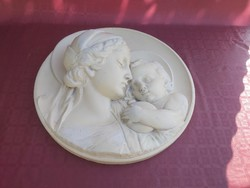 Mary with your baby wall relief 46 cm. Atelier r. Noahs, Prague.