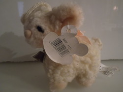 Plush - new - lamb - with label - 11 x 10 cm