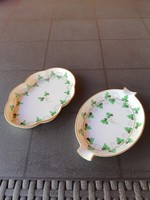 Herend parsley patterned ashtray and bowl.