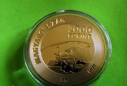 2021 2000 Forint EURÓPA TANÁCS MAGYAR ELNÖKSÉGE PP Proof Bontatlan kapszula!!