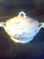 Zsolnay: blue peach soup bowl