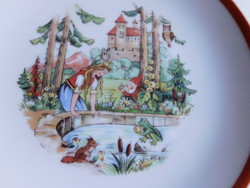 Fairytale patterned kahla children's plate - the frog prince