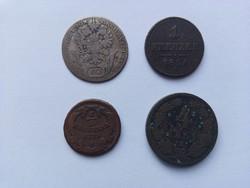 4 db régi osztrák érme 1775-1861