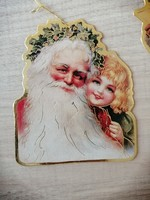 Régi vastag papír karácsonyfadísz