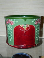 Antique numbered eichwald majolica pot