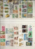 2 sheets of mixed old stamp about 50 pieces Vietnamese Japanese Cuba Czechoslovakian Romanian Bulgarian Belgium etc.