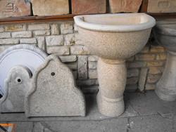 Exklusiv Falikút  nagy méretű fali kút csap Olasz Fagyálló műkő kerti  szobor