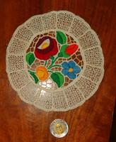 Kalocsa riselt cute size hand embroidery needlework tablecloth circular sale