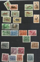 4 Hungarian stamp line at the same time horthy war care world war etc.