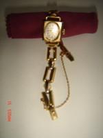 Glashütte női karóra, arany óracsattal