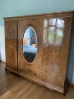 Neo-baroque inlaid cabinet
