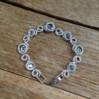 Original Swarovski bracelet with crystals