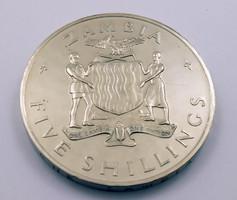 Zambia 1965 5 shilling díszdobozban pénz érme pénzérme
