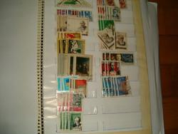 Kb 70 darab szovjet orosz szovjetúniól bélyeg bélyegek  lot gyüjtemény egyben