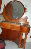 Art Nouveau style dressing table + 2 bedside tables