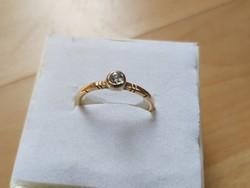 Antique gold ring / brill