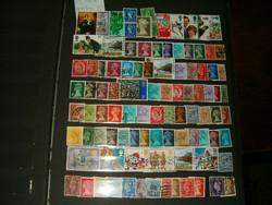 Kb 200 darab angol erzsébet stb angol bélyeg bélyegek egyben lot gyűjtemány