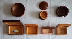 Hand carved old wooden boxes / bowls for sale
