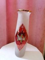 Kézzel festett üveg váza