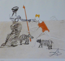 """Salvador Dali  rézkarca! """"Don Quichotte de La Mancha története"""" - Leárazáskor nincs felező ajánlat"""