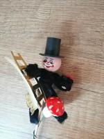 Zsenilia karácsonyfadísz kéményseprő retro szerencsehozó