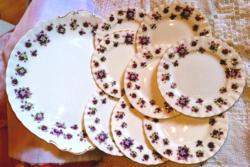 Royal albert sweet violets 8 person violet cake set, very rare!