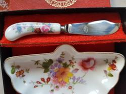 Royal derby porcelain butter set