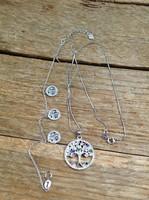 Albero della vita silver necklace with bracelet ruby, sapphire, emerald stones