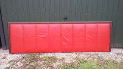 Fiery red leather retro headboard for sale, very cool!