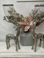 40Cm high candle holder deer pair fireplace aluminum