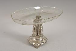 Ezüst figurális asztalközép/kínáló
