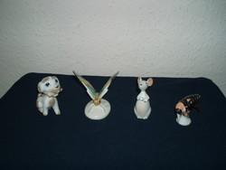 Aquincum mouse rare-herendiaquincum-drasche-hand-painted-animal figurines-porcelain-beautiful condition!