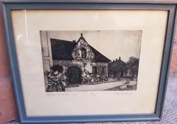 Sopron poncichter house etching