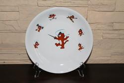 Alföldi tál a szöuli olimpia kabalafiguráját, Hodorit ábrázoló dekorral
