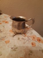 Sumptuous old silver-plated cream pouring