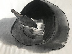 Miklós Borsos: bird feeder 1988