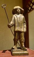 Bronze statue of metallurgist